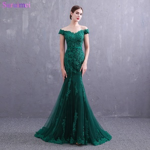 Real Photos Emerald Green Evening Dresses Small V Neck Cap Sleeves Fashion  Lace Applique Buttons Back 307b3870a45f