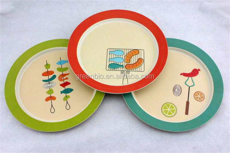 round bamboo wood charger plate bamboo food serving dinner plate  bamboo plate & List Manufacturers of Wooden Charger Plates Buy Wooden Charger ...