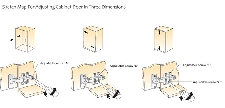 Cabinet Hidden Invisible Concealed Door Hinge 180 Degrees