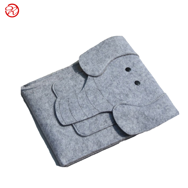Cute Creative elephant 8 10 11 inch laptop bag notebook felt laptop bag for teenagers student pad