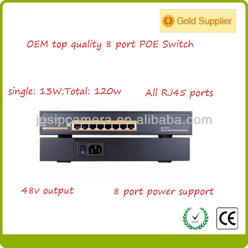 8 Port 10/100M Ethernet Poe Switch 48V industrial poe switch