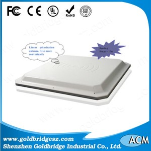 Ethernet RFID UHF antenna integrate reader 860-960MHz built-in 12dBi with multiple tags reading