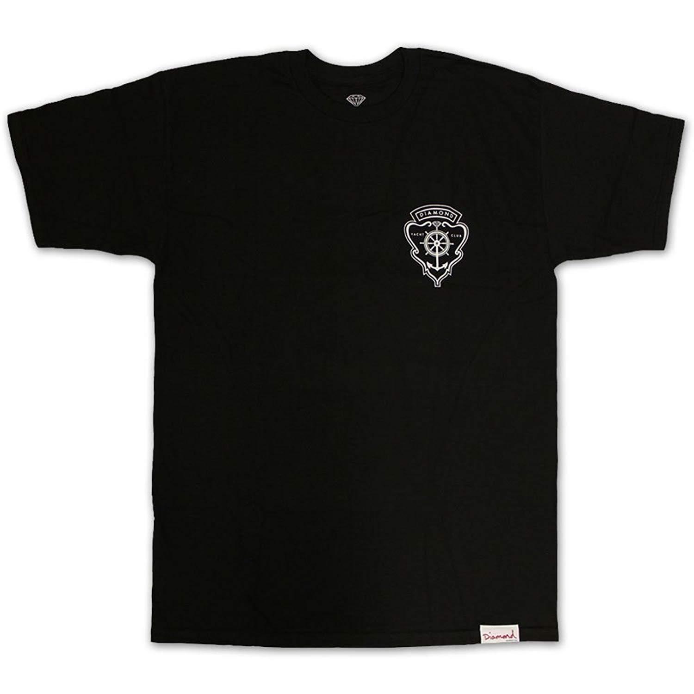 0a464bf8f7cf Get Quotations · Diamond Supply Co Yacht Crest Black White Screenprint S/S Men's  T-Shirt