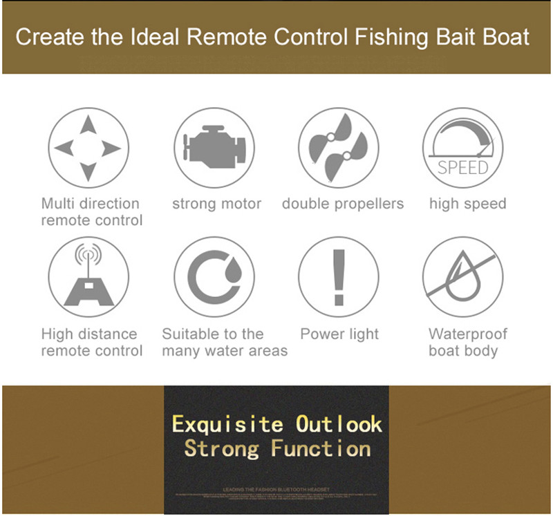 Electronic Remote Control RC Bait Boat GPS Fishing Lure Boat