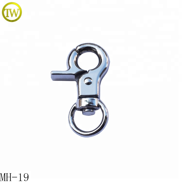 Panic Hook Quick Release Clip Nickel Nickle Plated Steel Hooks Clips Snap