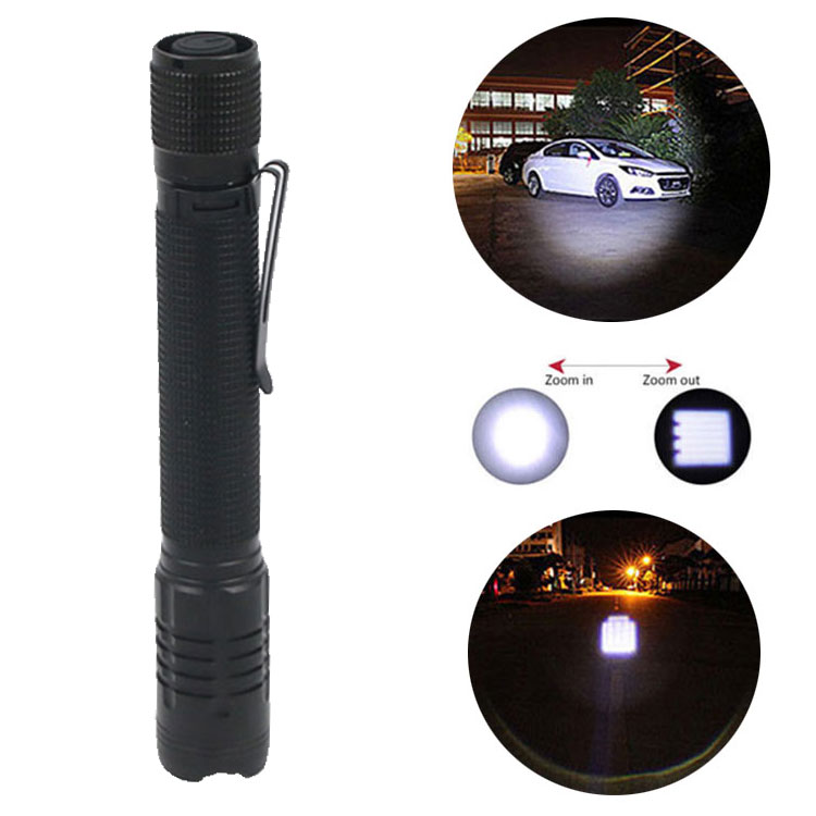 Draagbare Tactische LED Zaklamp Pocket Clip Mini Penlight Emergency Hand Fakkel Lamp