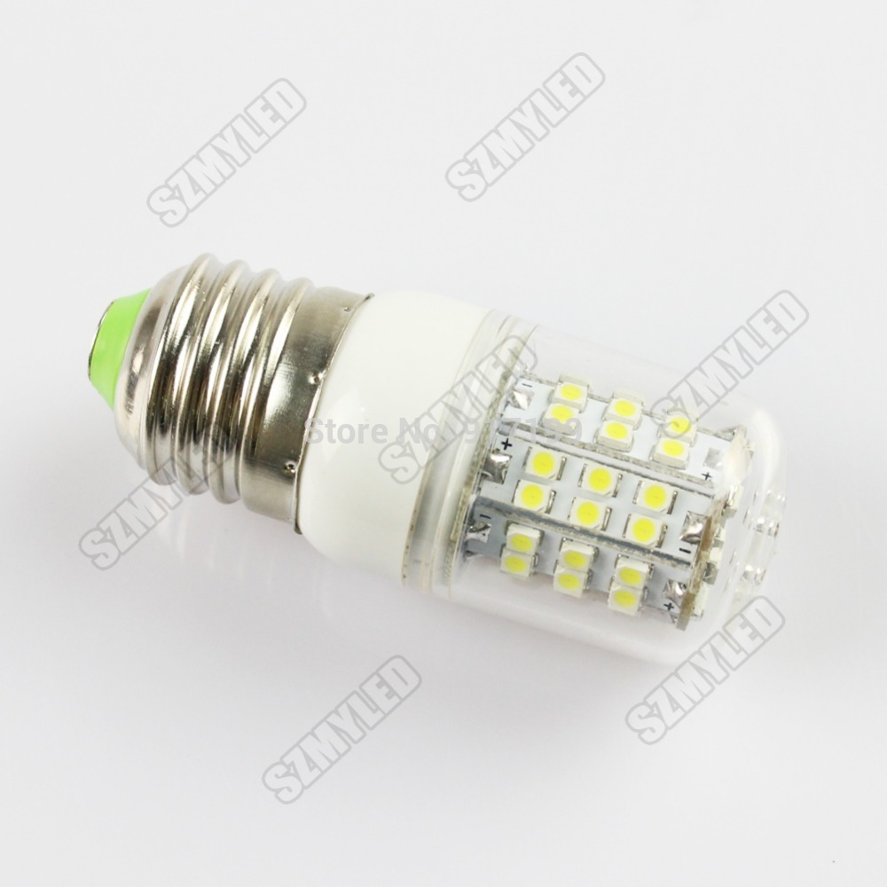 5W E27 LED Corn Light Bulb Energy Saving Lamps Ultra Bright 3528 SMD 60 LED 510lm ,AC 110V/220V-240V ,Cool White/Warm White