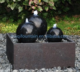 Garden Outdoor Table Top Water Dancing Stone Granite Spinning Spinning Rolling Ball Fountain