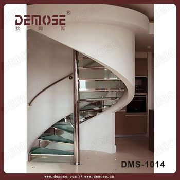 Exterior Iron Stair Tread Spiral Stairs/non Slip Glass Stair Treads