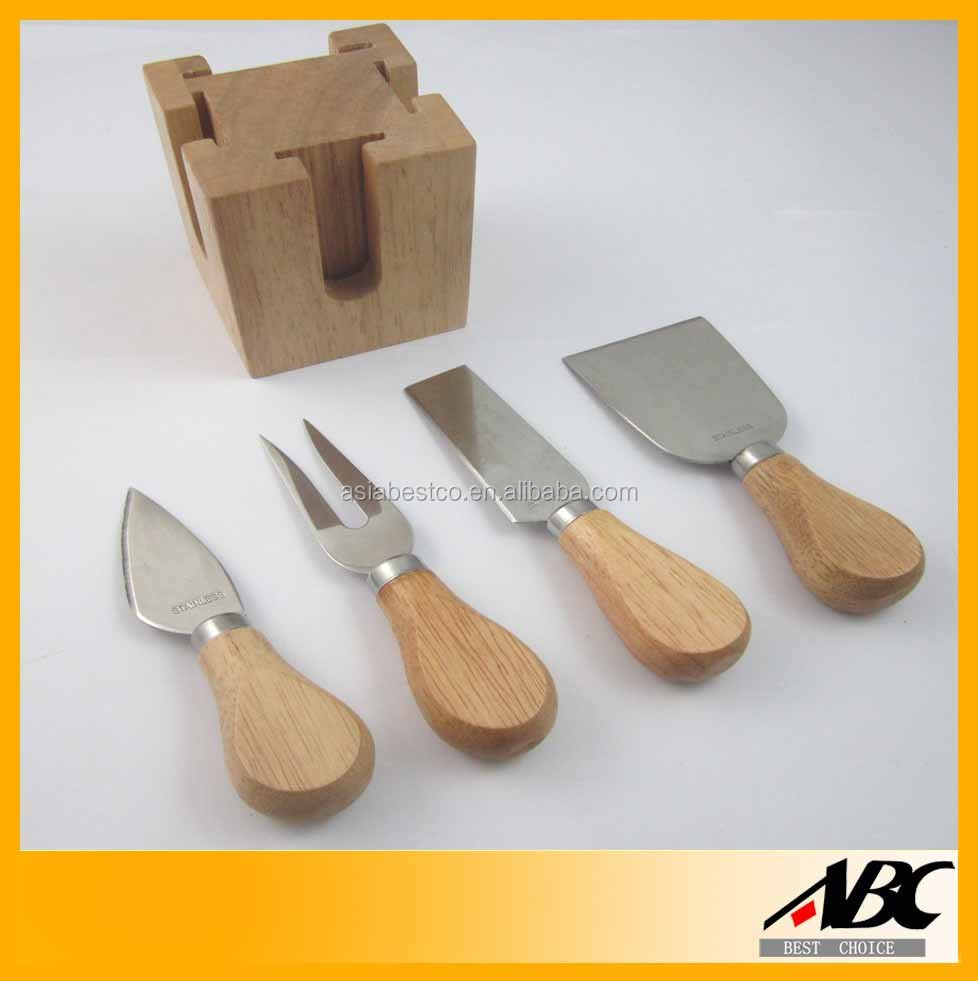 Private Label Wood Handle Cheese Knives Cheese Cutting Tools
