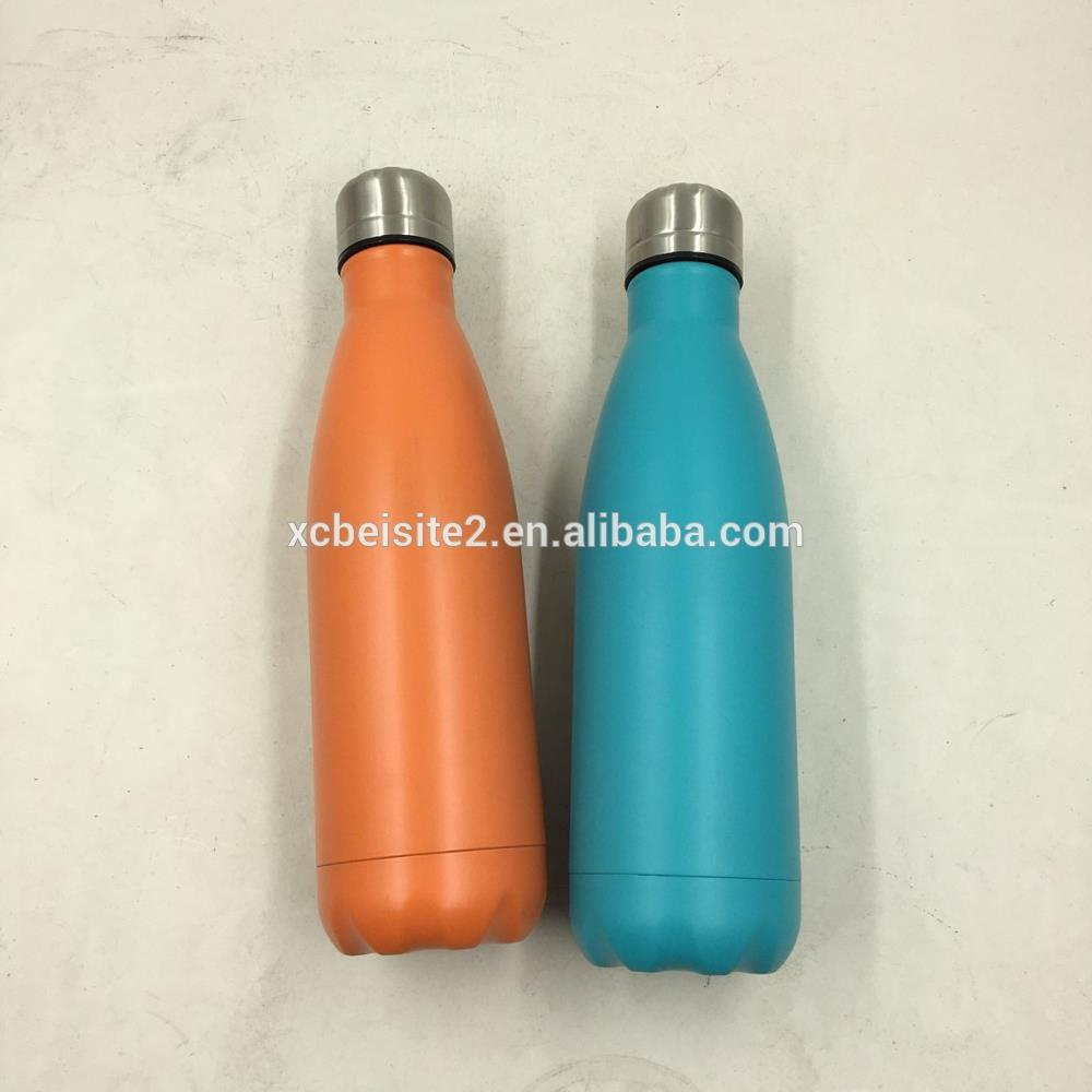 Metal stainless steel skinny vacuum bottle