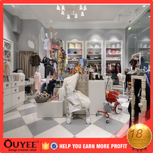 Luxury mall women clothes store displays clothing showroom interior design stand wooden display rack desk for shop kiosk