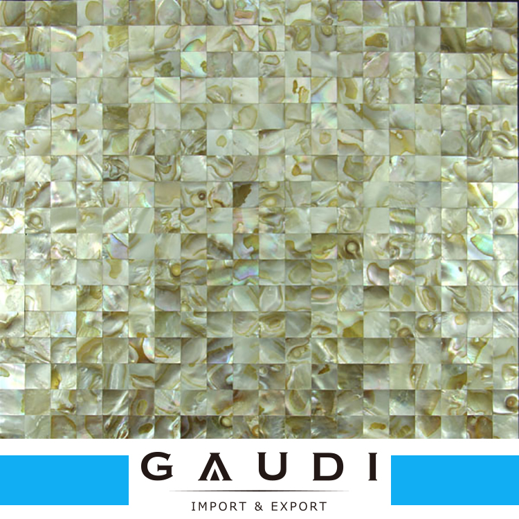 Square shape mother of pearl tile backsplash shell mosaico