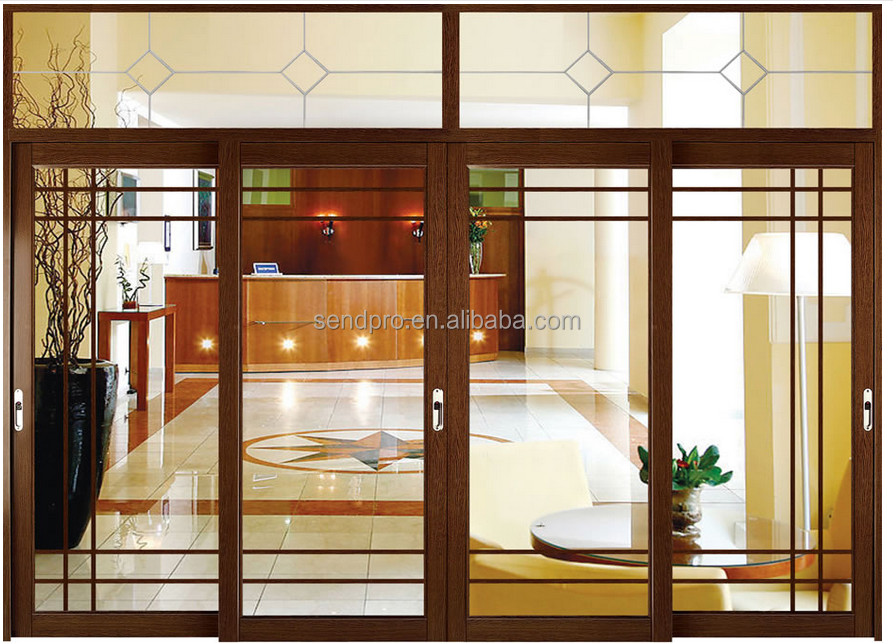doppelt verglaste holzmaserung aluminium heben schiebet r mit lamellen t r produkt id. Black Bedroom Furniture Sets. Home Design Ideas