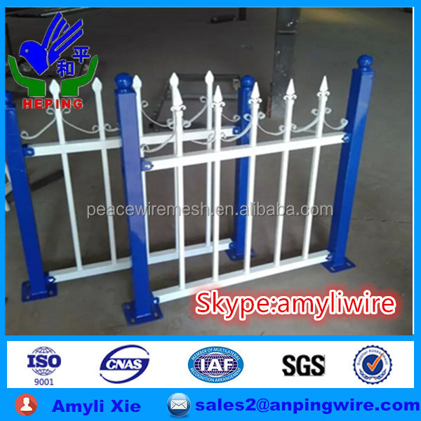 Steel Picket Metal Wrought Iron Fence and ornametal fence designs