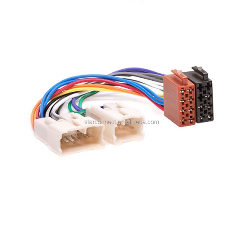 Iso Harness Car Gps Dvd Player Video Wiring Adapter Connector For Toyota Buy Harnesscar Wire Harnesstoyota