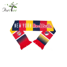 Wholesale 2017 popular custom red acrylic new fashion fan football scarf