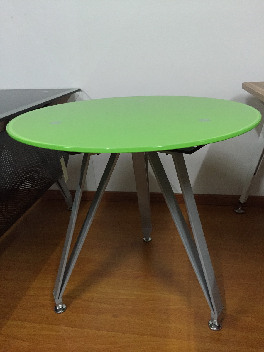 Round school table - Small Round Office Meeting Table For 2 Person Diam 800 Mm