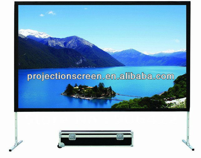 400 inch fast fold projector screen for office equipment