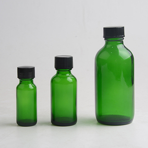 100ml round green glass haire oil bottle with dropper cap