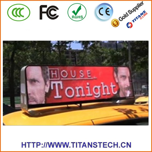 High Resolution Led Display Taxi Advertising Roof Top