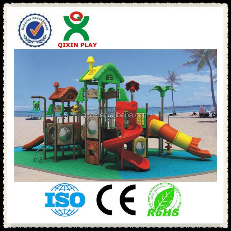 Enfants de jeu en plein air ext rieur enfants parc - Ensemble balancoire et toboggan ...