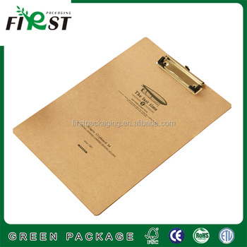 High quality & eco-friendly recycle paper file/sliver aluminum clipboard