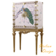 Exquisite Royal Rococo Ornate Reproduction Painting Curio Cabinet, Full Handmade Wooded Highboy for Living Room BF11-04221b