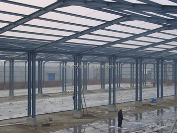 Dos Plantas De Metal Pintado Estructura Logstica Estacin De