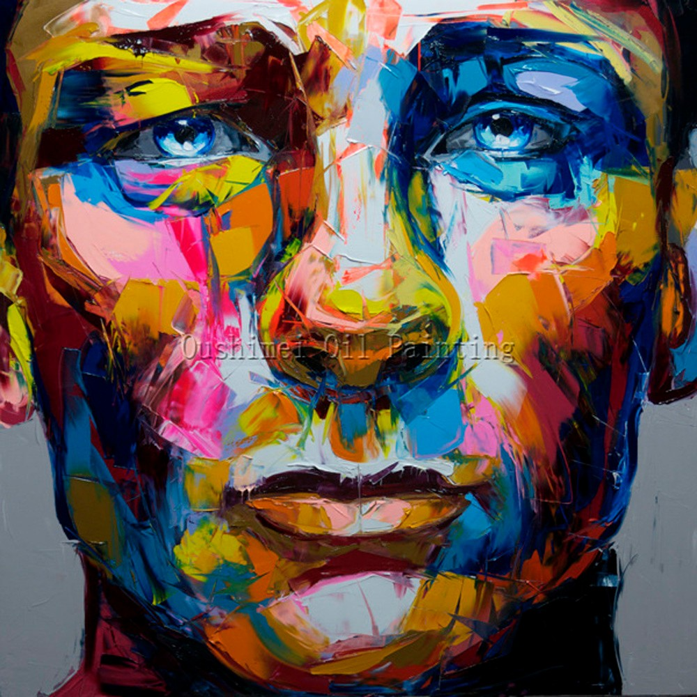 Fabuleux 100% Fait Main Haute Qualité Couteau Peinture Abstraite Homme Et  IT88