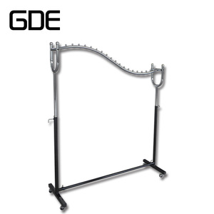 7Wholsale clothes display rack with beads chromed adjustable garment rack