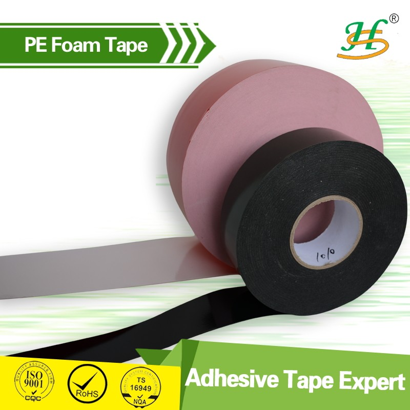 Cheap 1mm Thick PE Foam Double Sided Adhesive Tape Supplier