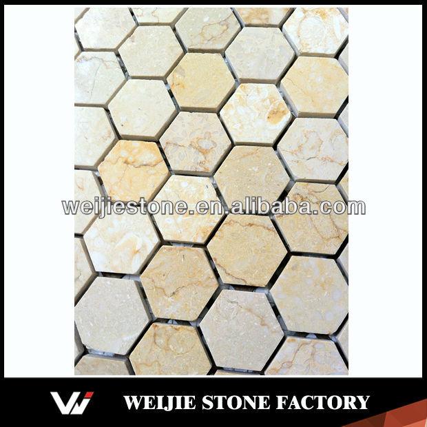 Naturale pietra esagonale prezzo per le piastrelle di mosaico varios tipos mosaicos de mosaico - Piastrelle tipo mosaico ...