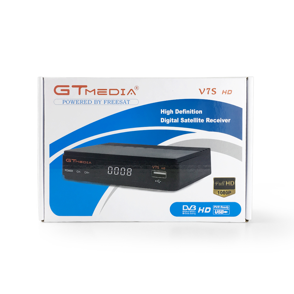 GT media V7S HD FTA DVB S2 <strong>satellite</strong> tv receiver upgrade from Freesat V7 HD support power vu