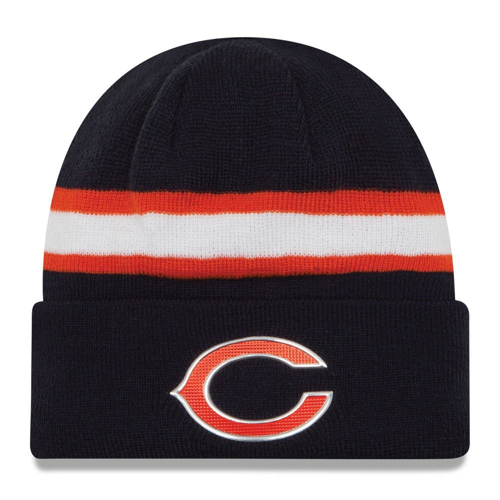 894335a8a62 Get Quotations · Chicago Bears New Era Navy Color Rush On-field Knit Hat /  Cap
