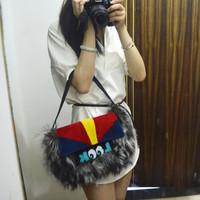 SJ771 Fashion Week Cute Famous Brand Wholesale Real Fur Handbags