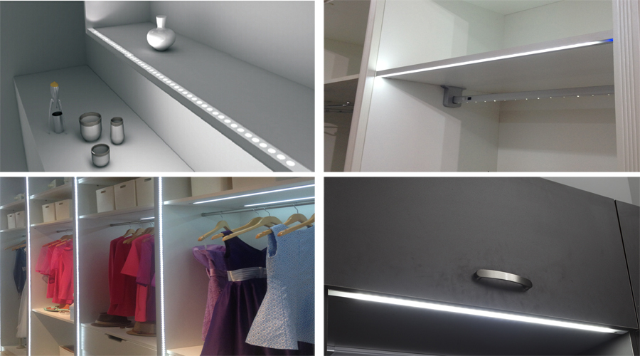 Led Shelf Edge Lighting Under Cabinet Led Furniture Bar Dc 12v ...