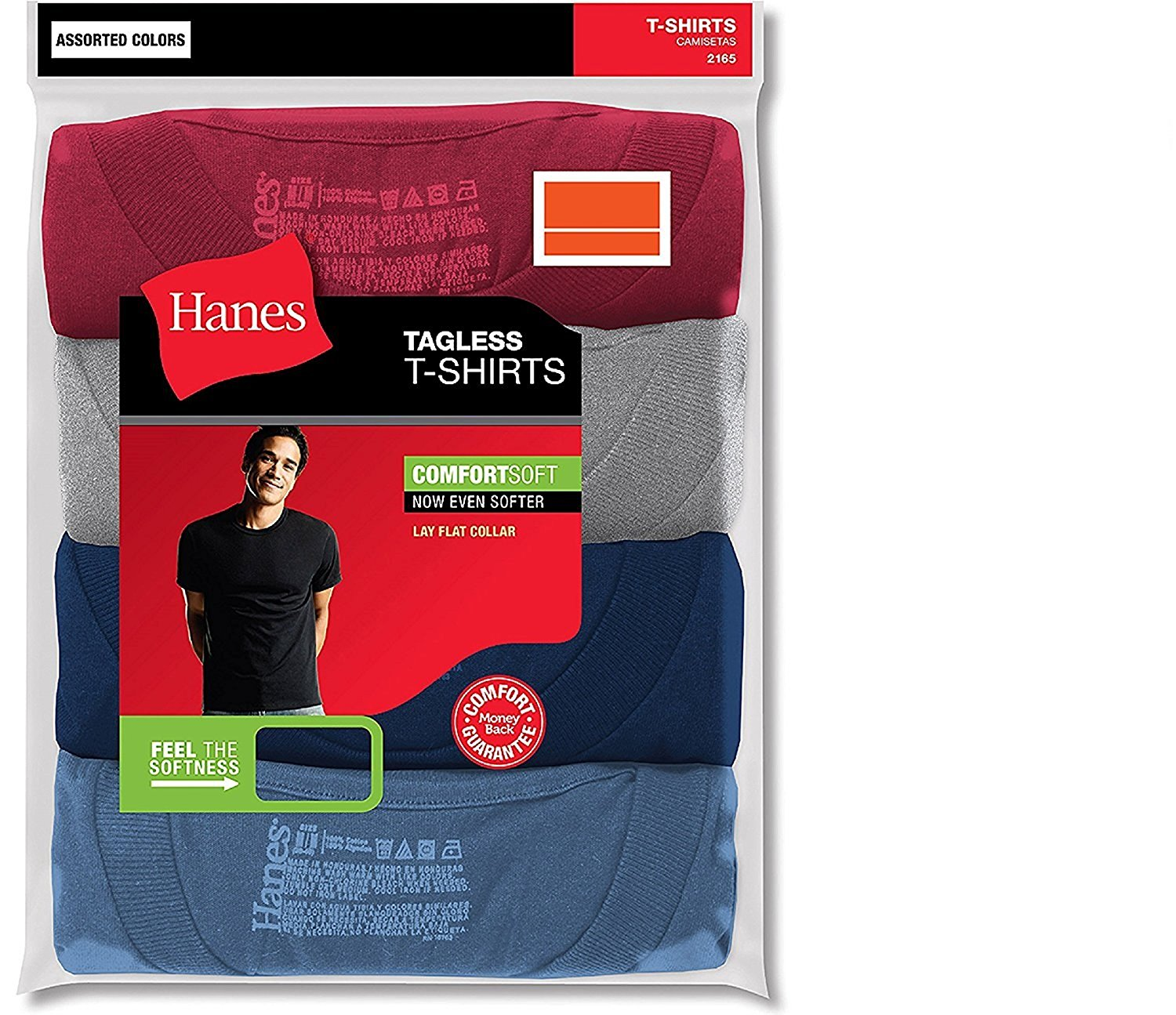 575293ac2a1940 Get Quotations · Hanes Men s 3-Pack Tagless Crew Neck T-Shirt