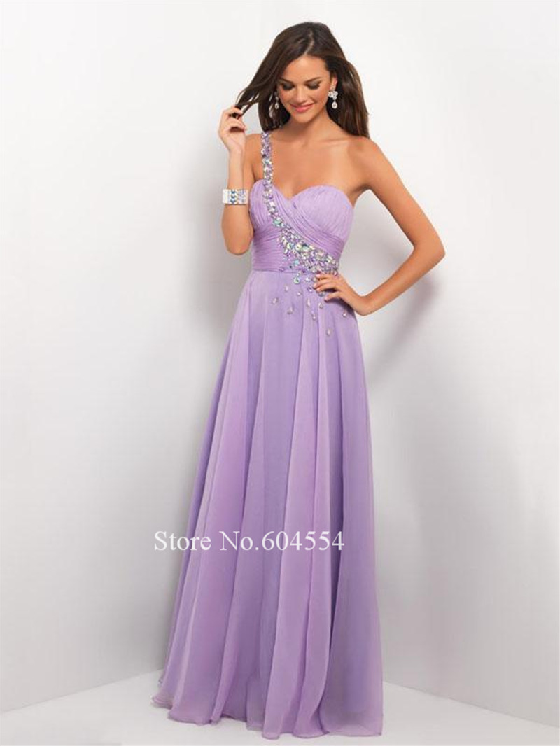 Custom Made Vestidos De Noche Satin Chiffon Light Purple ...