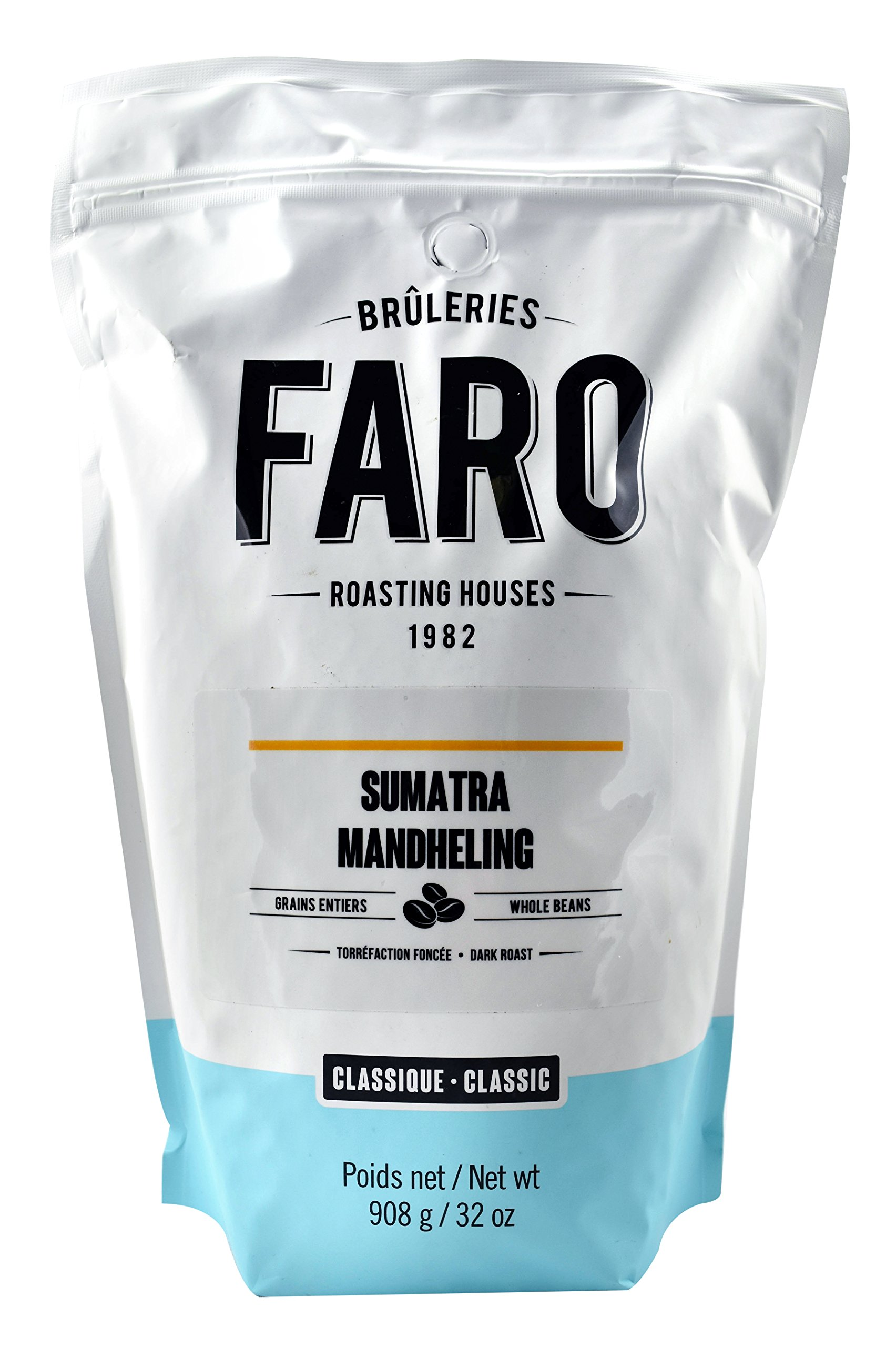 Faro Roasting House Sumatra Mandheling Whole Coffee Beans 2lb, 100% Arabica Beans - Whole Bean Coffee - Fresh Dark Roast Coffee Beans (2 Pound Bag)