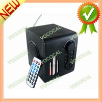 LCD USB Alarm Clock Speaker With FM Radio and Remote Control