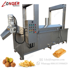 Continuous Automatic Gas Cassava Chips Chin Chin Nuts Fish Belt Frying Oil Filtering Machine Potato Chips Fryer Machine Price