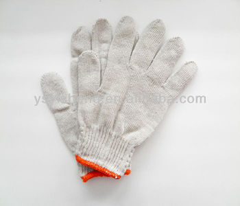 700g Recycled Cotton Knitted Gloves,Safety Industrial Use Gloves ...