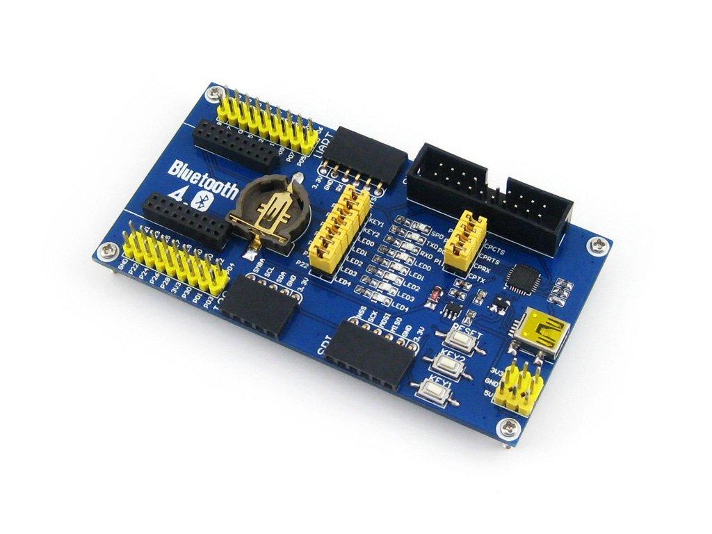 Waveshare BLE4.0 Bluetooth NRF51822 Module 2.4G Wireless Communication Module Mother Board Expansion Development Board Kit for Arduino