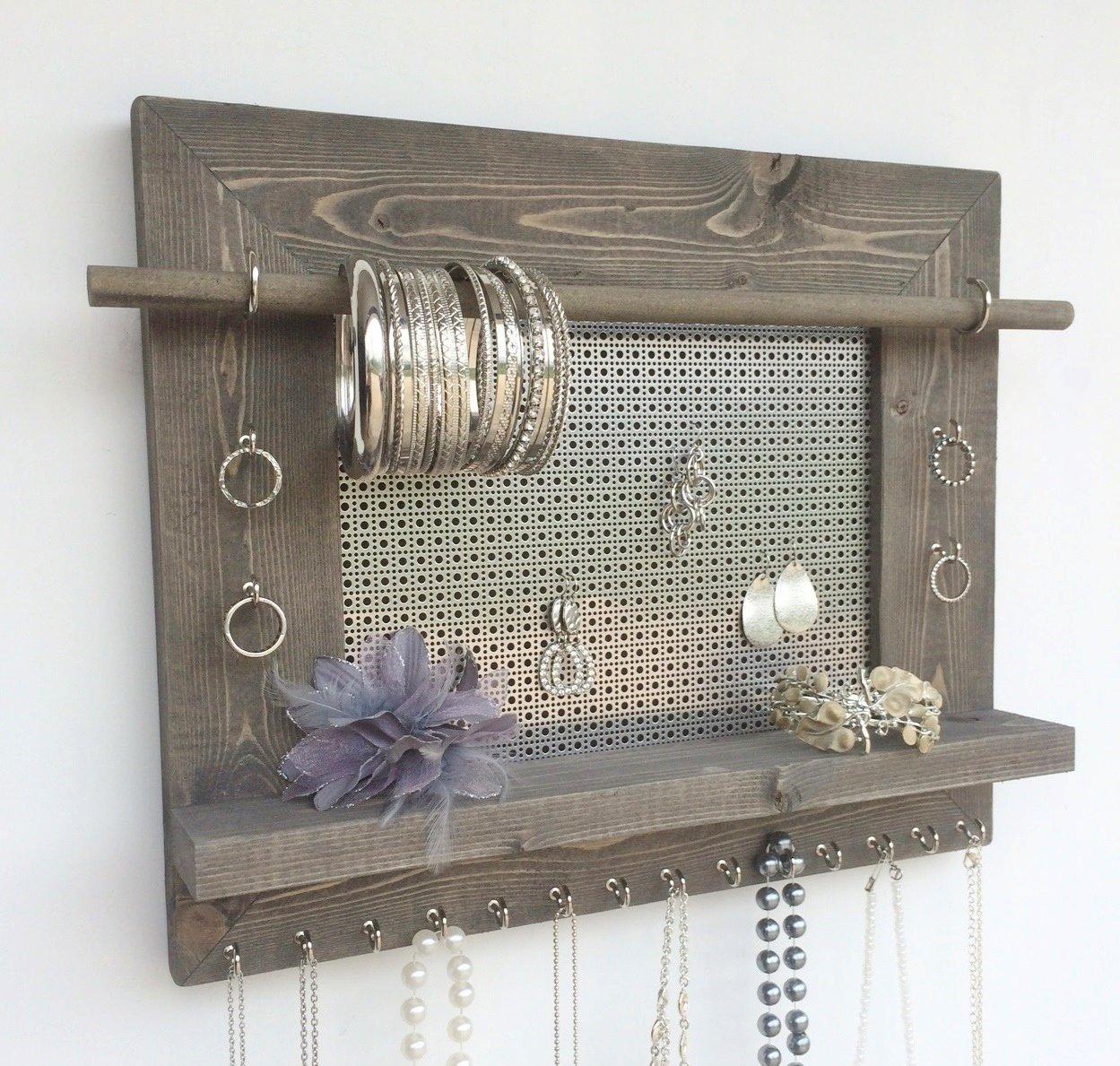 Buy Jewelry Organizer Earring Holder Necklace Holder Barnwood