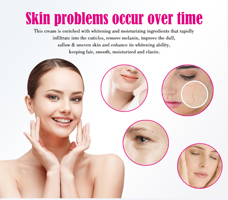 Moisturizing Collagen and Snail Whitening Face Cream Remove Pimples Acne