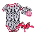 Baby Fashion Bodysuits 3pcs Cotton Infant Body Bebes Short Sleeve Clothing Jumpsuit Printed Baby Boy Girl