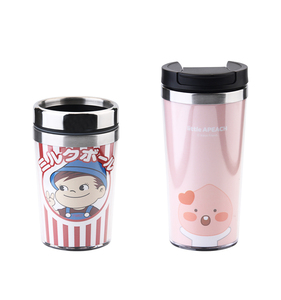 Wholesale Eco Friendly Custom Logo Double Wall Vacuum Insulated Thermal Mug Stainless Steel Coffee Travel Tumbler