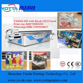 Full Automatic aluminum,Ceiling printing Digital Flatbed UV Printer Price