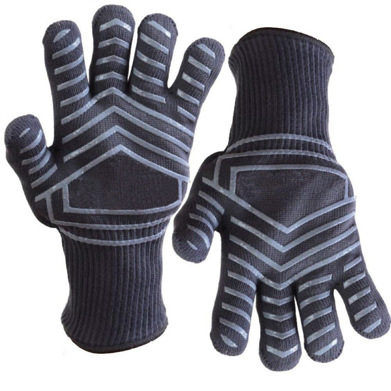 Kitchen Heat Resistant Gloves Oven Grill Pot Holder Baking Cook Glove Useful C